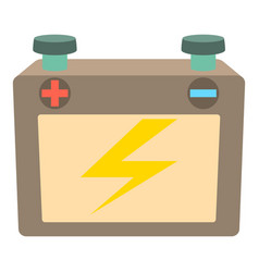 battery icon cartoon style vector image