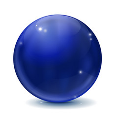 blue sphere vector image