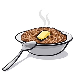 Buckwheat porridge vector