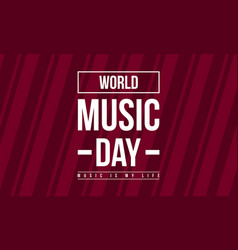 Celebration world music day collection stock vector