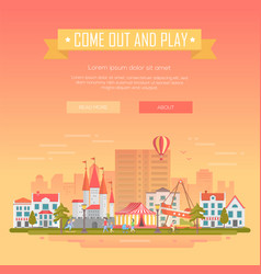 Come out and play - modern vector