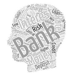 Danger banks ahead text background wordcloud vector