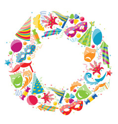 festive round frame for carnival party circus vector image