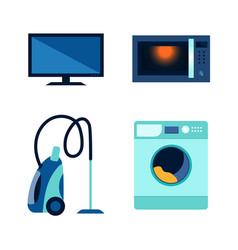 flat consumer electronics icon set vector image