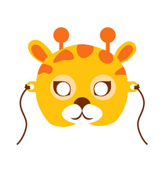 Giraffe animal carnival mask childish masquerade vector