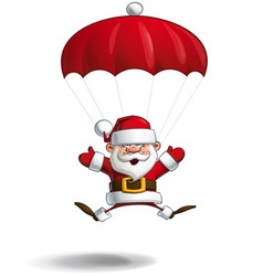 Happy Santa Parachute Open Hands vector image vector image