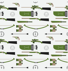 Hunting pattern flat style equipment vector