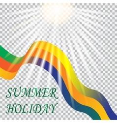 Inscription summer holiday solar brazil vacation vector
