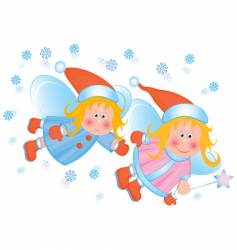 little angels vector image