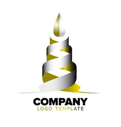 logo template abstract object vector image vector image