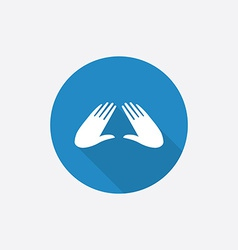 massage Flat Blue Simple Icon with long shadow vector image vector image
