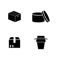 packaging simple related icons vector image vector image