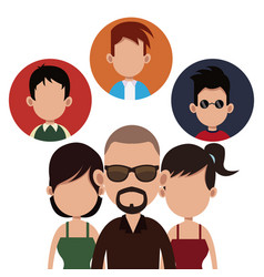 People community society together vector