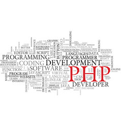 Php word cloud concept vector