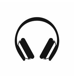 Protective headphones icon simple style vector