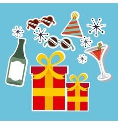 Retro party celebration design vector