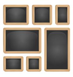 school blackboard set vector image vector image