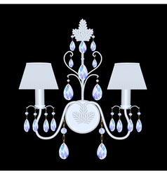 sconces with crystal pendants vector image