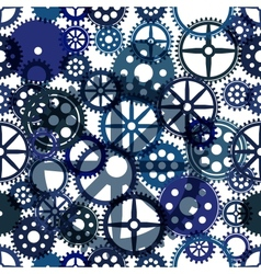 Seamless clockwork background Eps8 image vector image