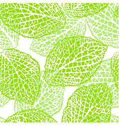 Seamless pattern with decorative leaves natural vector
