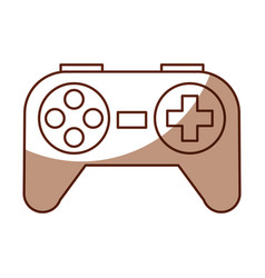 shadow control game cartoon vector image