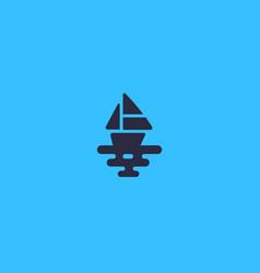 Ship logotype boat sea creative logo vector