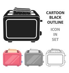 toaster icon in cartoon style isolated on white vector image