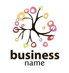 Tree logo business and the environment vector