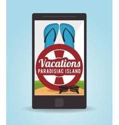 Vacations paradise island travel vector