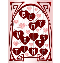 Vintage Greeting Valentine Card vector image vector image