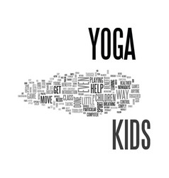 What everyone ought to know about yoga for kids vector