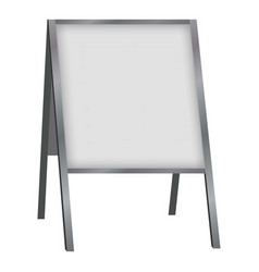 white blank sandwich board mockup realistic style vector image vector image