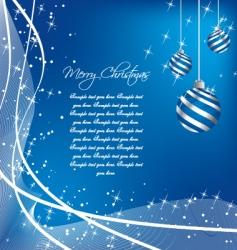 silver Christmas vector image