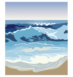 Summer beach waves vector