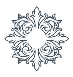 Decorative monogram design element vector