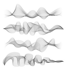 abstract sound waves isolated on white background vector image