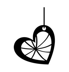 monochrome silhouette of heart surrounded by vector image