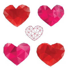 Heart love set of design elements vector