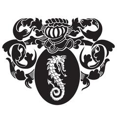 Heraldic silhouette no5 vector