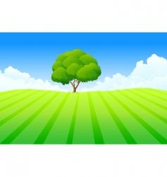 fresh landscape vector image