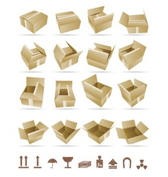 of shipping box and box vector image