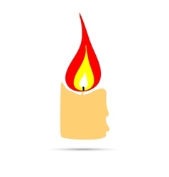 Burning candle sign vector