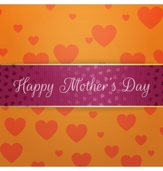 Mothers day greeting purple banner with text vector