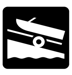 Boat launch sign vector
