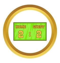 Baseball score board icon vector