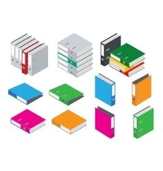 Binder blank file folder office folder file vector