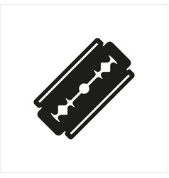 Blade razor icon on white vector