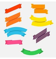 Bright colorful flat ribbons set vector image vector image