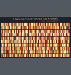 Bronze gradientpatterntemplateset of colors for vector