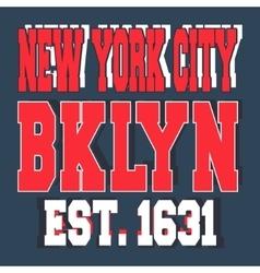 Broolklyn New York vintage stamp vector image